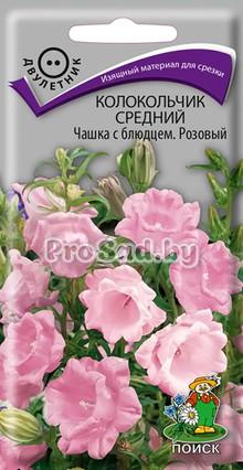 Колокольчик средний Чашка с блюдцем, розовый